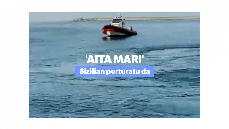 Sizilian porturatu da 'Aita Mari', 105 migrante erreskatatuta