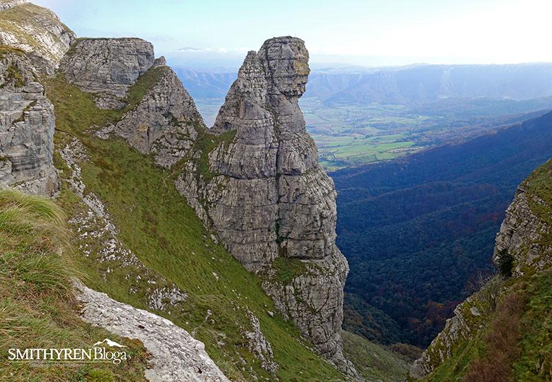 Fraileburu edo Fraideburu (834 m) ohiko bidetik: 50 m, III+